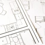 architectural drawing of floor plan for house building